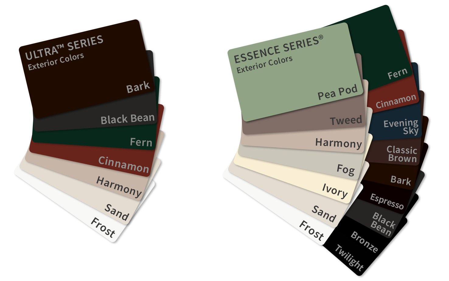 Milgard Replacement Window Color Cards