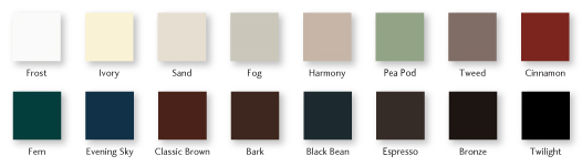 Essence Series® wood windows color options