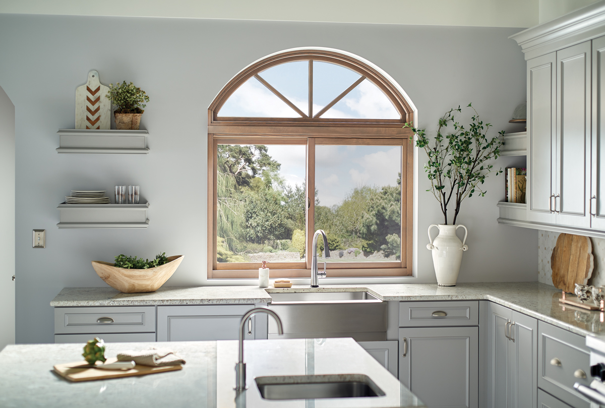 Essence® Series Wood Window with Fanlight