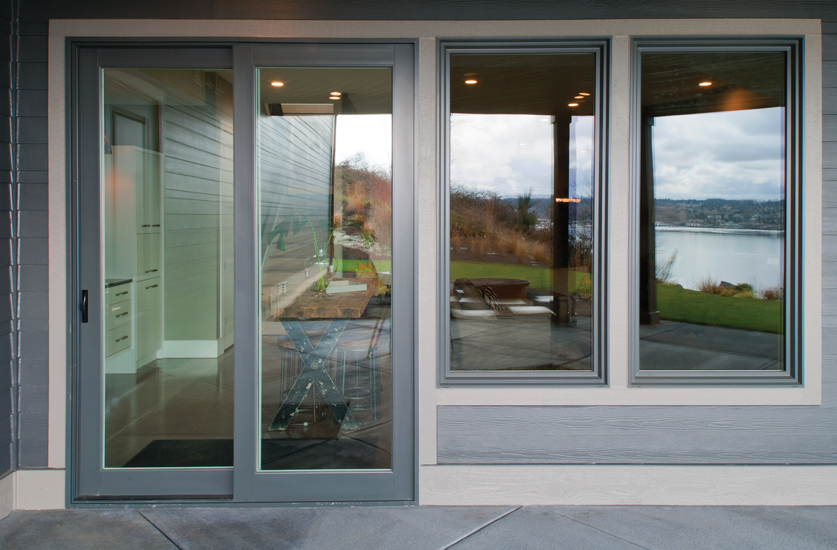 Tuscany Series Exterior View Of Sliding Patio Door And