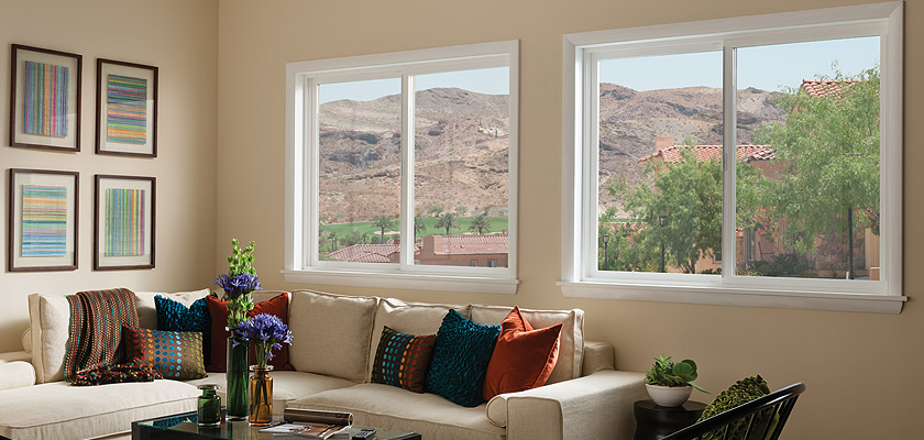Tuscany Series vinyl horizontal slider window