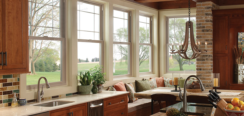 Montecito Series vinyl single hung windows