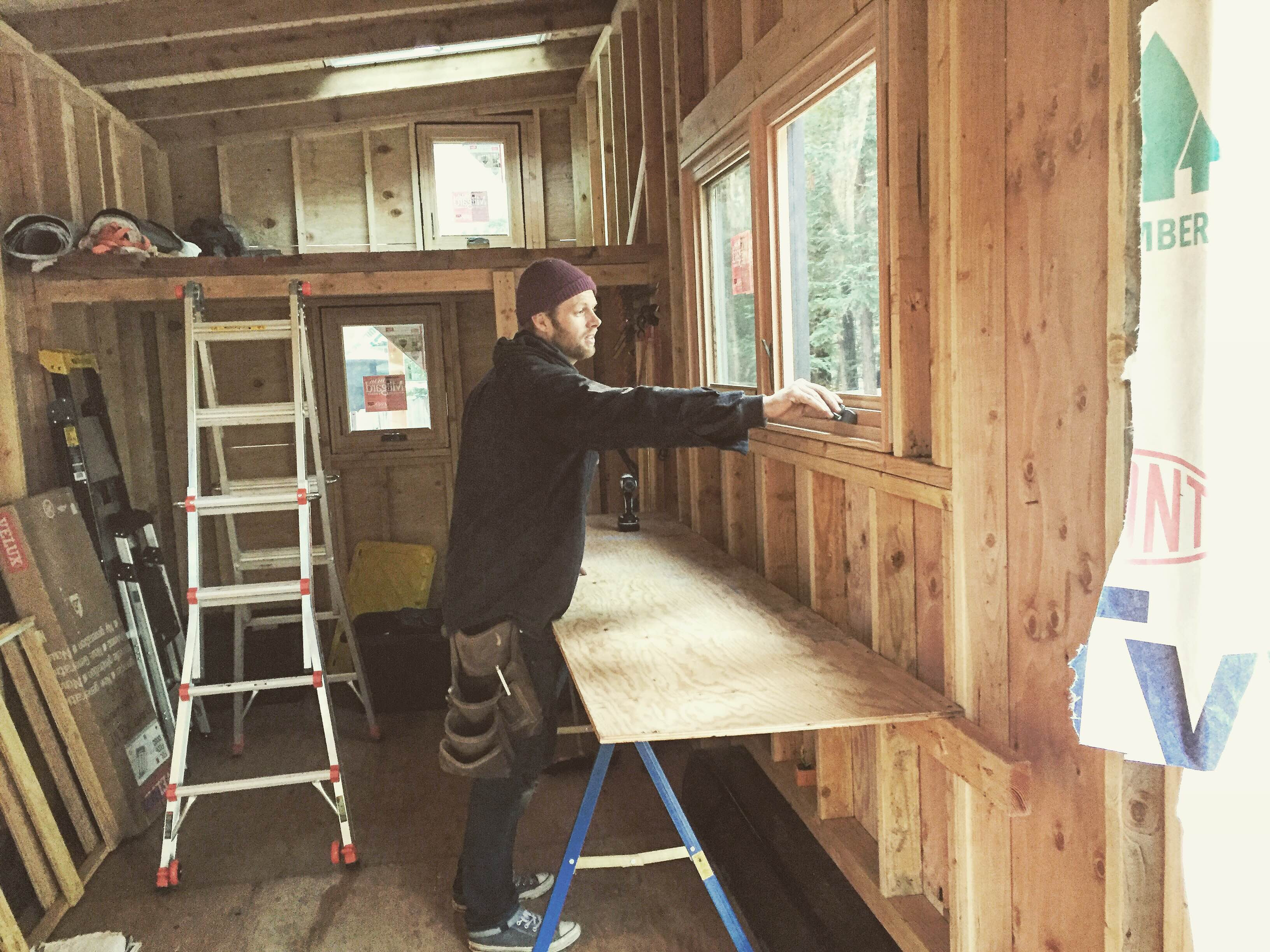 Installing casement wood windows