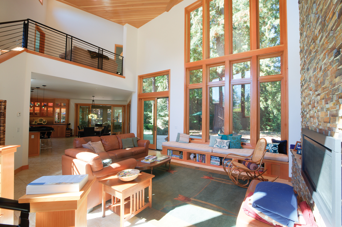 Wood Windows Accent A Dream Home Surrounded By Redwoods Milgard