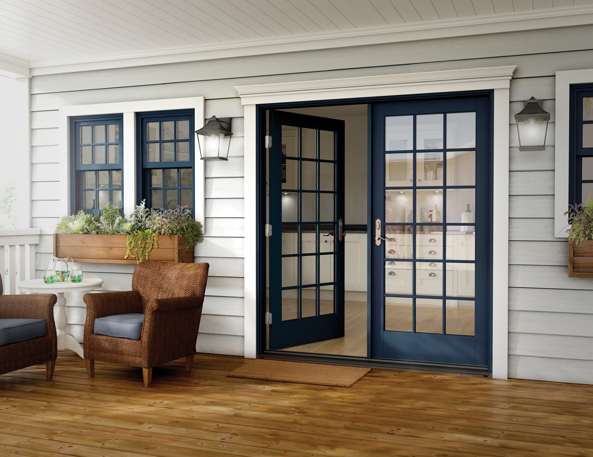Essence Series wood French patio door