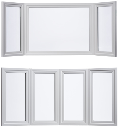 Bay windows vinyl fiberglass window series milgard for Window window