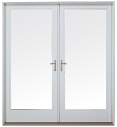 French out swing patio door wood vinyl fiberglass for Outward opening french doors