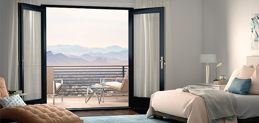 Ultra Series fiberglass in-swing patio door