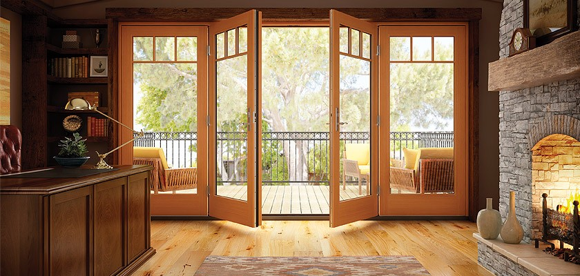 Essence Series wood in-swing French patio door