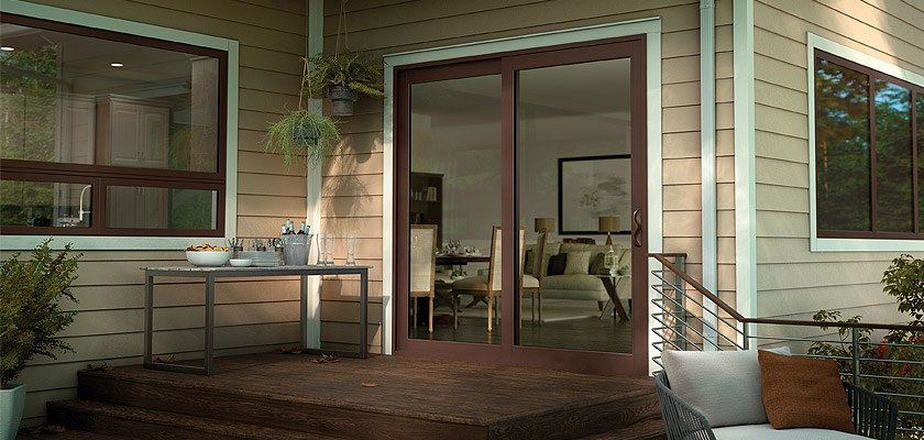 Tuscany Series vinyl french sliding glass patio door