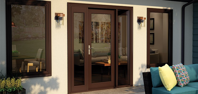 High end vinyl in swing french patio doors tuscany series for High end french doors