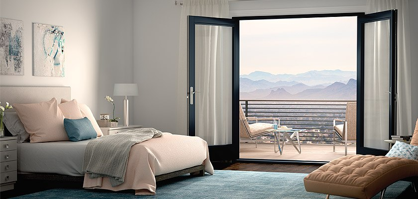 Ultra Series fiberglass in-swing French patio doors