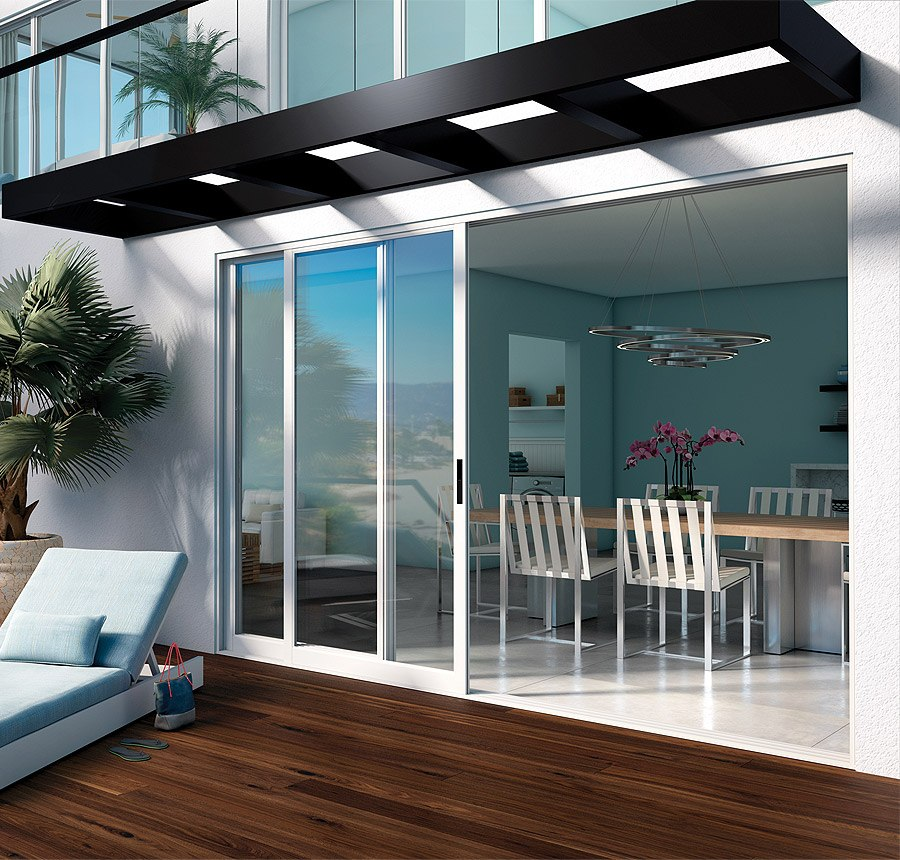 Aluminum Bi Fold Glass Doors Moving Glass Wall Systems