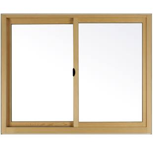 Essence Series Wooden Horizonal Slider Windows