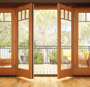 Essence Series wood in-swing patio door