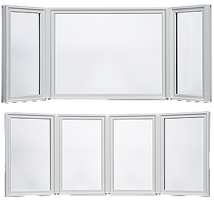 Fiberglass Bay and Bow windows