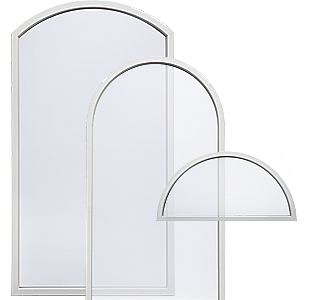 Radius Fiberglass Window