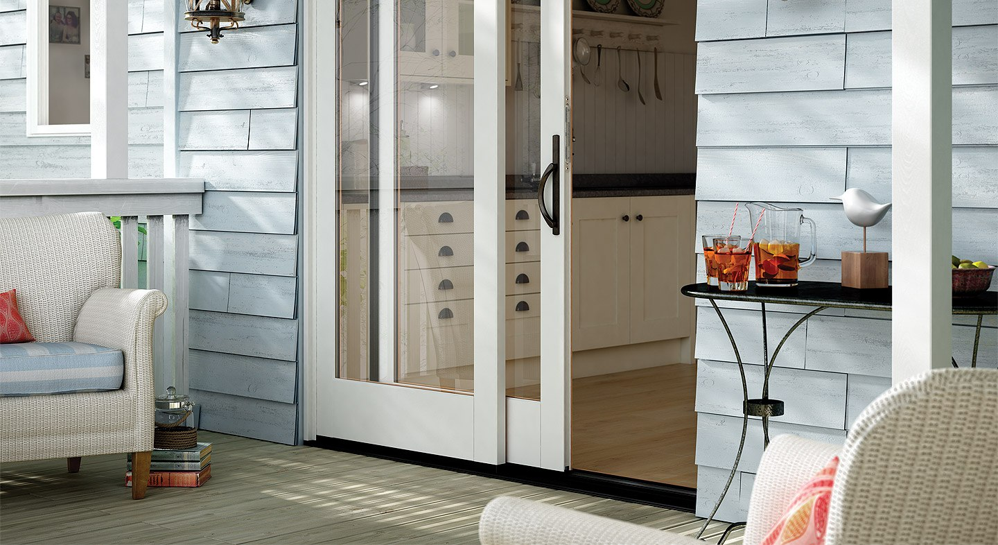 Awesome Essence Series Wood 2 Panel Sliding Patio Door