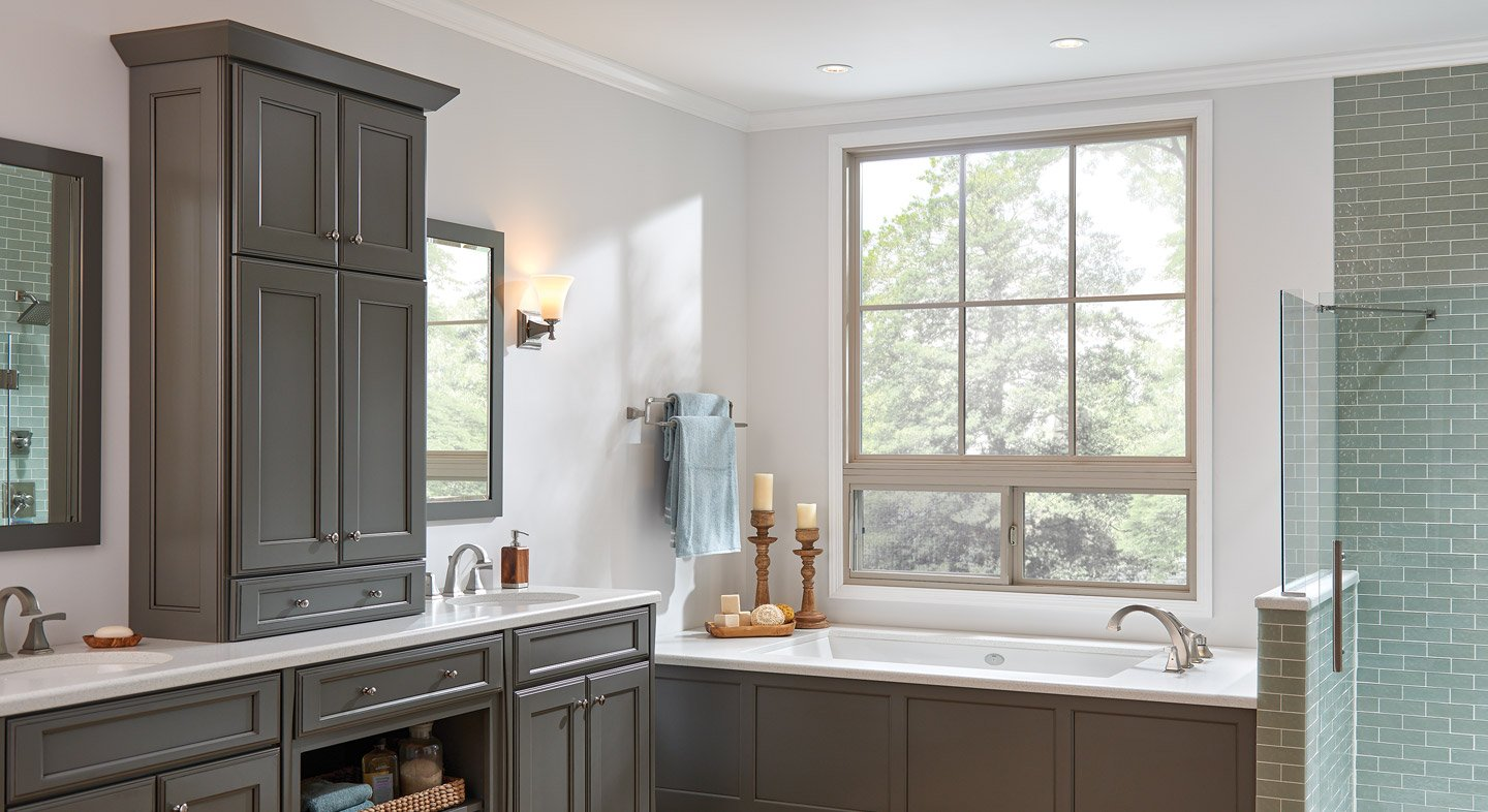 Hermosa Series picture horizontal slider window in clay