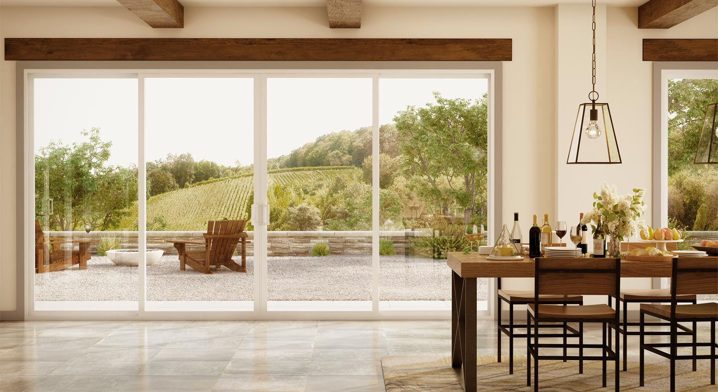Trinsic Series vinyl sliding patio doors