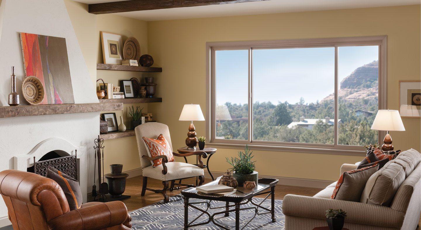 Tuscany Series double horizontal slider in tan