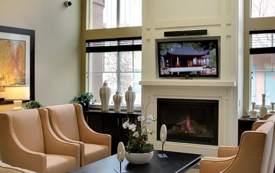 Style Line® Series windows in living room