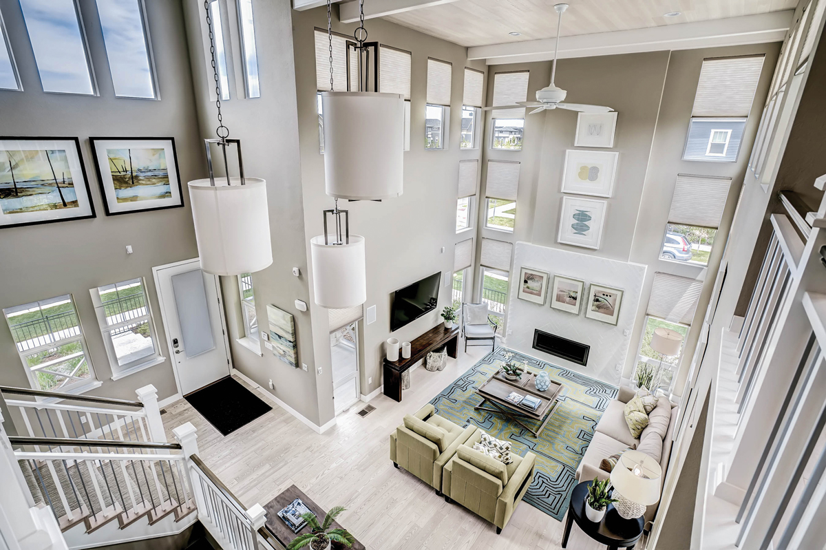 Two story home with tons of natural light
