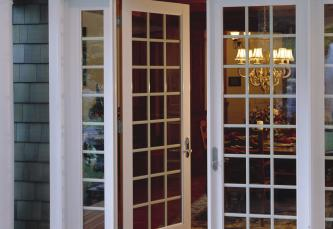 Cape code architectural style considerations milgard for Inward opening french doors