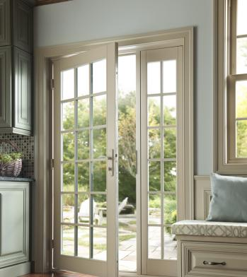 Tuscany series vinyl patio doors milgard windows doors for Milgard vinyl windows