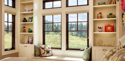 Casement windows are recommended for Tudor homes. The long, narrow shape  complements the architectural design. Choose a wood or wood veneer frame to  match ...
