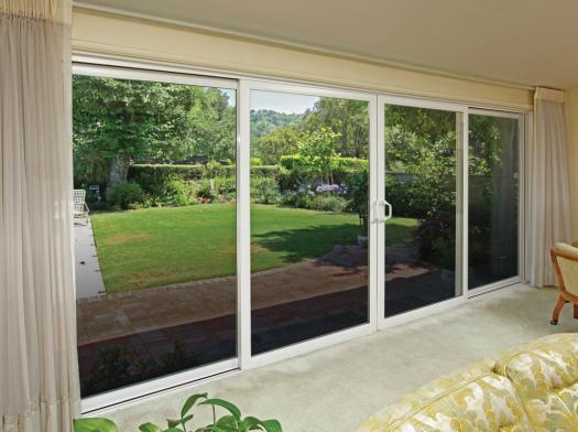 Tuscany series sliding patio doors milgard windows for Six foot sliding glass door