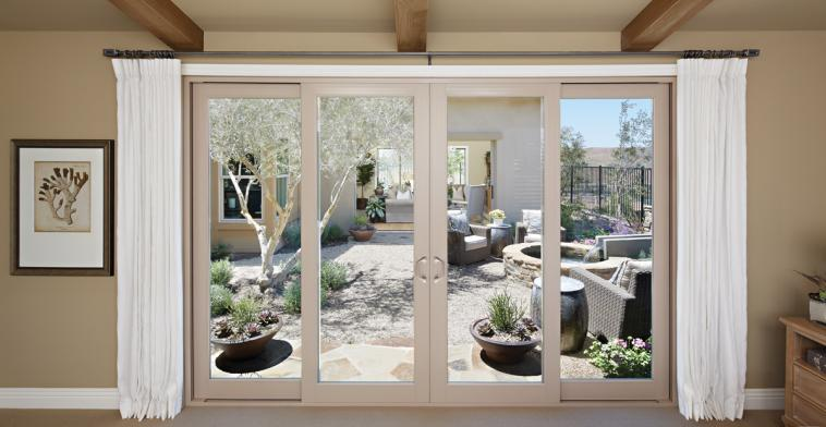 Montecito series vinyl patio doors milgard windows doors for 8 foot french patio doors