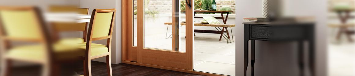 Learn More About The New Essence Series Sliding Patio Door With A Solid  Wood Interior.