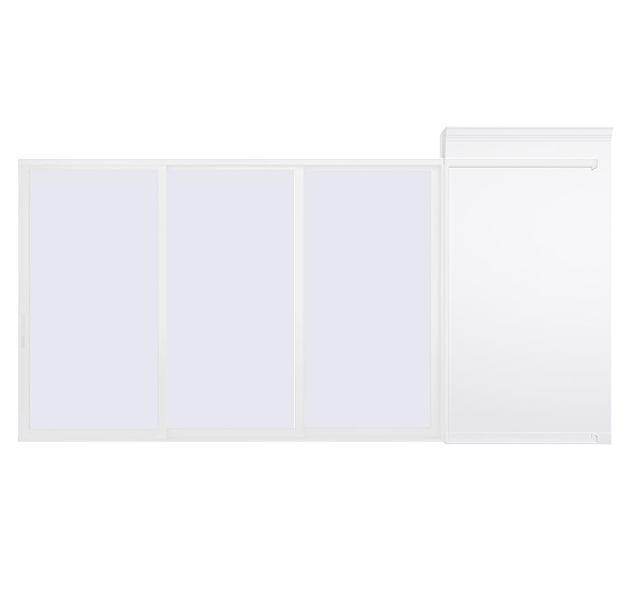 AX550 Pocket Glass Walls in White
