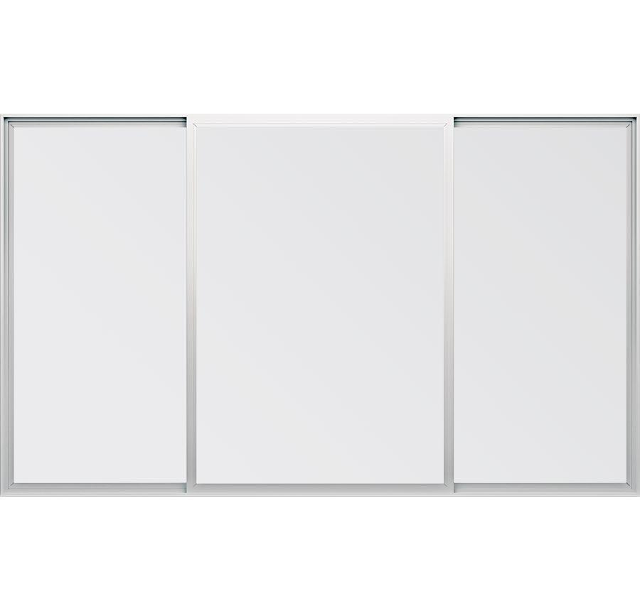 Trinsic Series vinyl double horizontal sliding windows