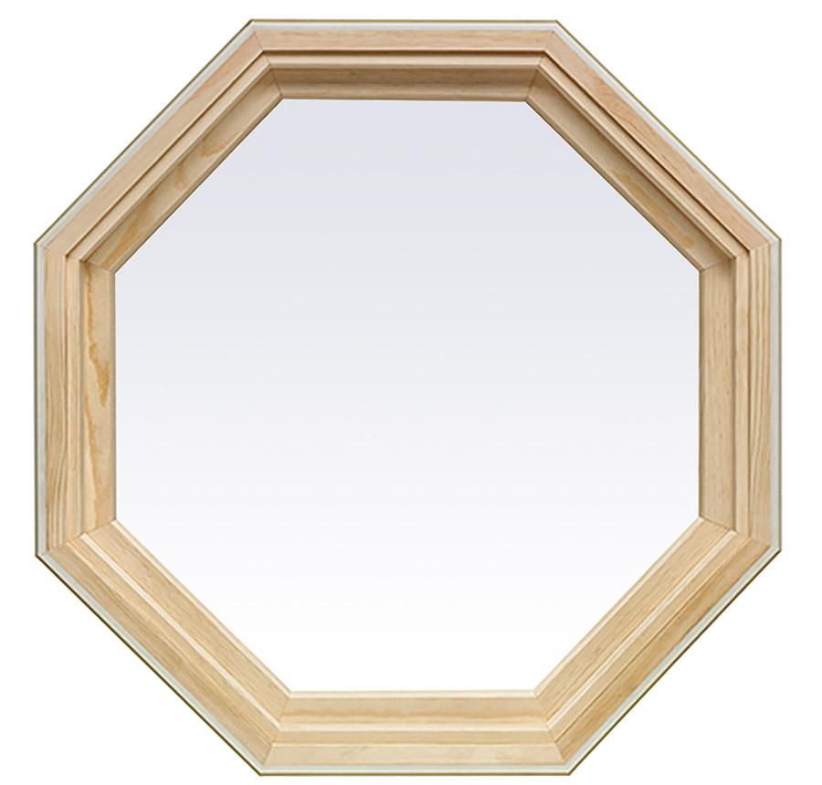 16 Rod Octagon Grid: Wood Picture Windows