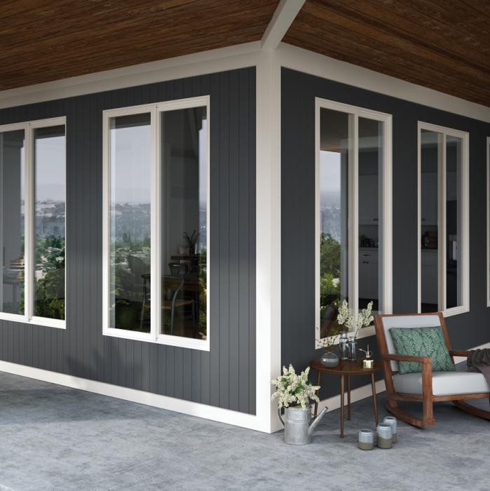 Contemporary vinyl windows