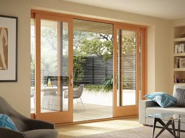 moving glass wall systems - Wood Sliding Glass Patio Doors