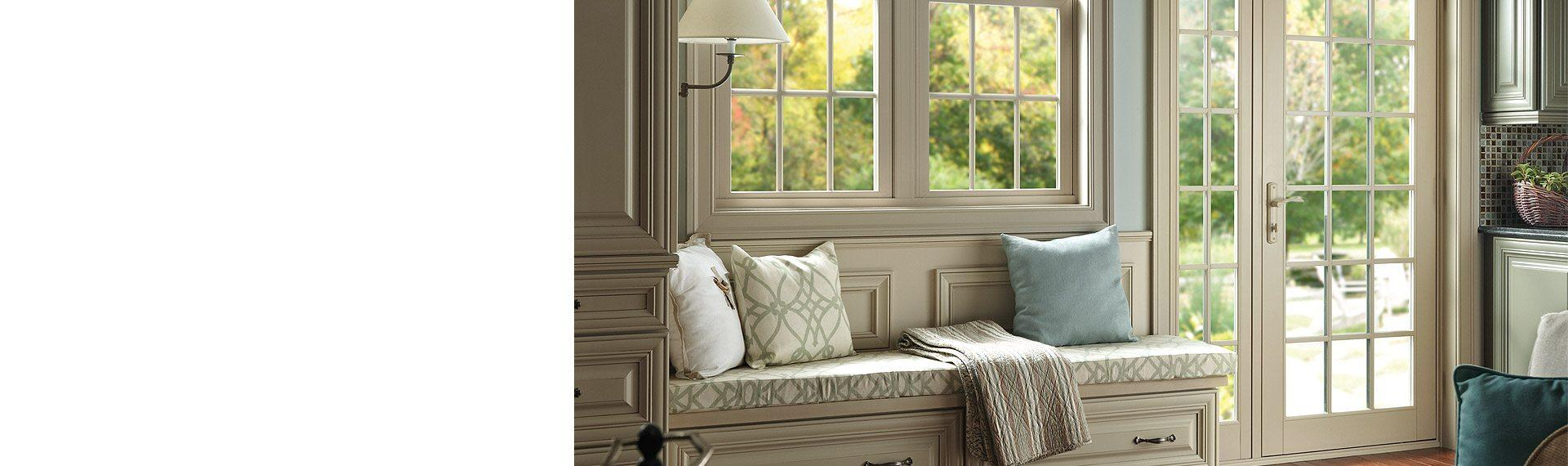 Tuscany Series vinyl Out-Swing French patio door