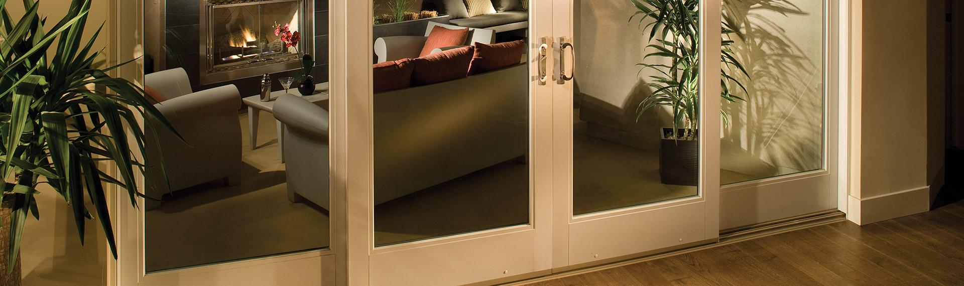 Ultra Series fiberglass 4-panel sliding patio door