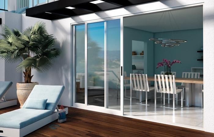 Moving Glass Wall Systems 3 Panel Pocket Door