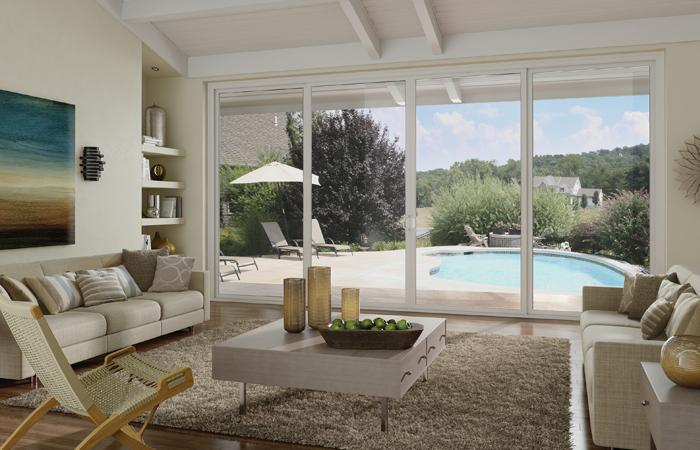 Tuscany Series Vinyl 4 Panel Sliding Patio Door With SmartTouch® Handle