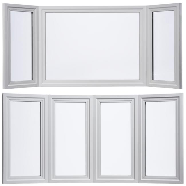 Montecito series vinyl bay windows milgard windows for Milgard vinyl windows