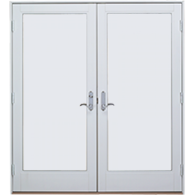 Ultra series out swing french doors milgard for Outswing french doors