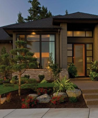 Aluminum Series windows and patio doors in dark bronze anodized