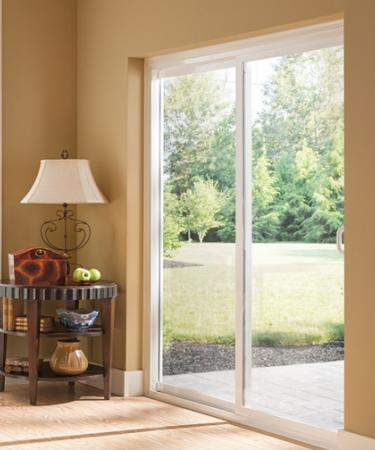 The slim profile of Style Line Series vinyl patio doors provides a sleek appearance with visual appeal. Take advantage of your outdoor view and refresh your ... & Slim Frame Sliding Glass Doors   Style Line Series   Milgard