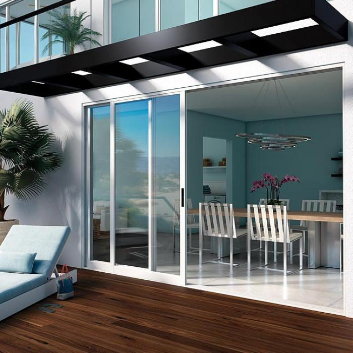 Sliding Pocket Glass Doors Walls in Aluminum