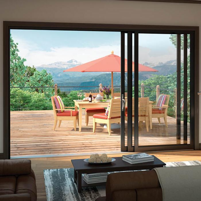 Create A Vibrant Mural Of The Outdoors On Your Wall With Milgard Moving  Glass Wall Systems. The Stacking Style Slides To Open, Filling Your Space  With ...