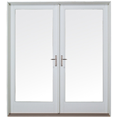 Patio doors new custom replacement milgard windows for Double outswing exterior french doors