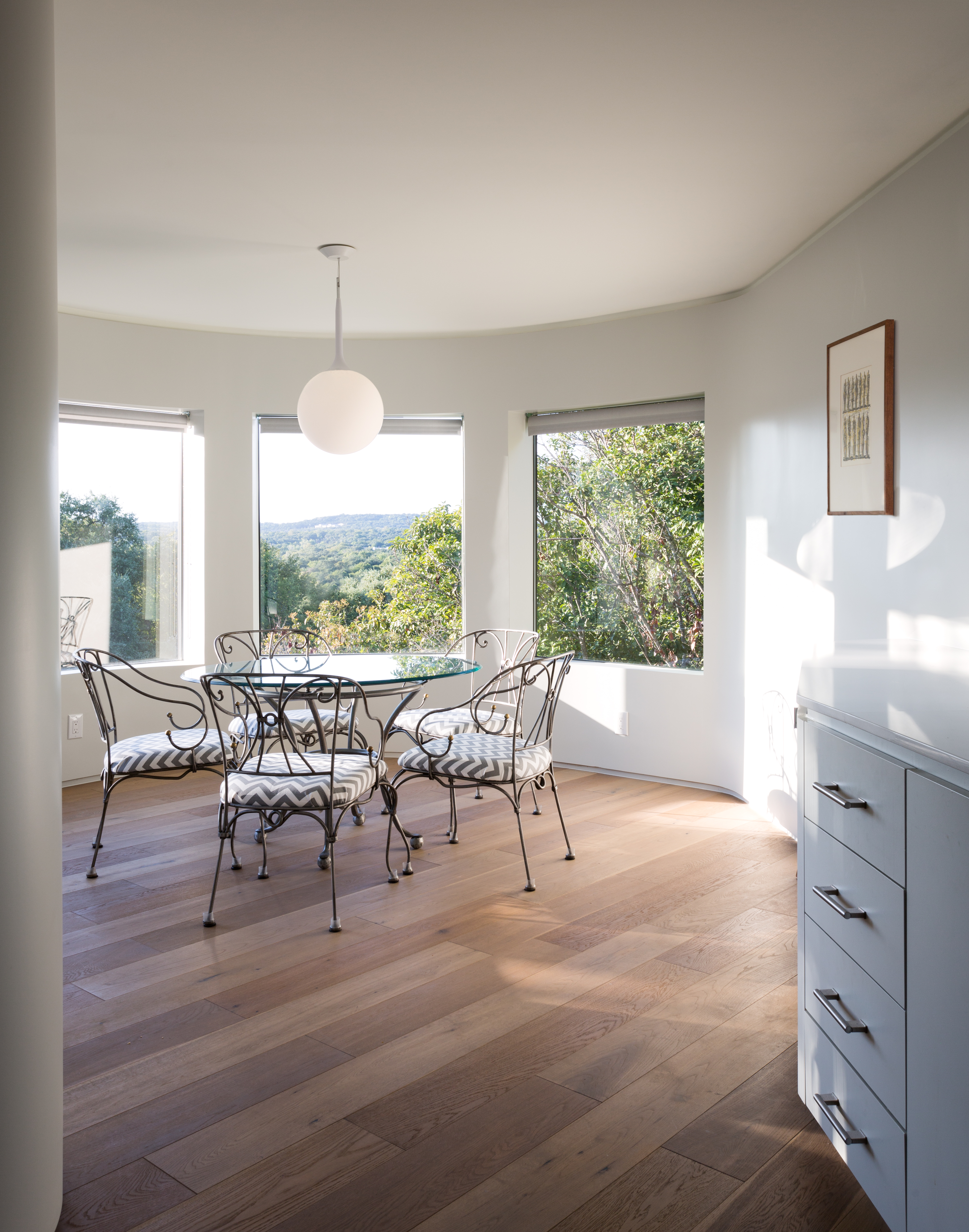 after photo of a modern dining room